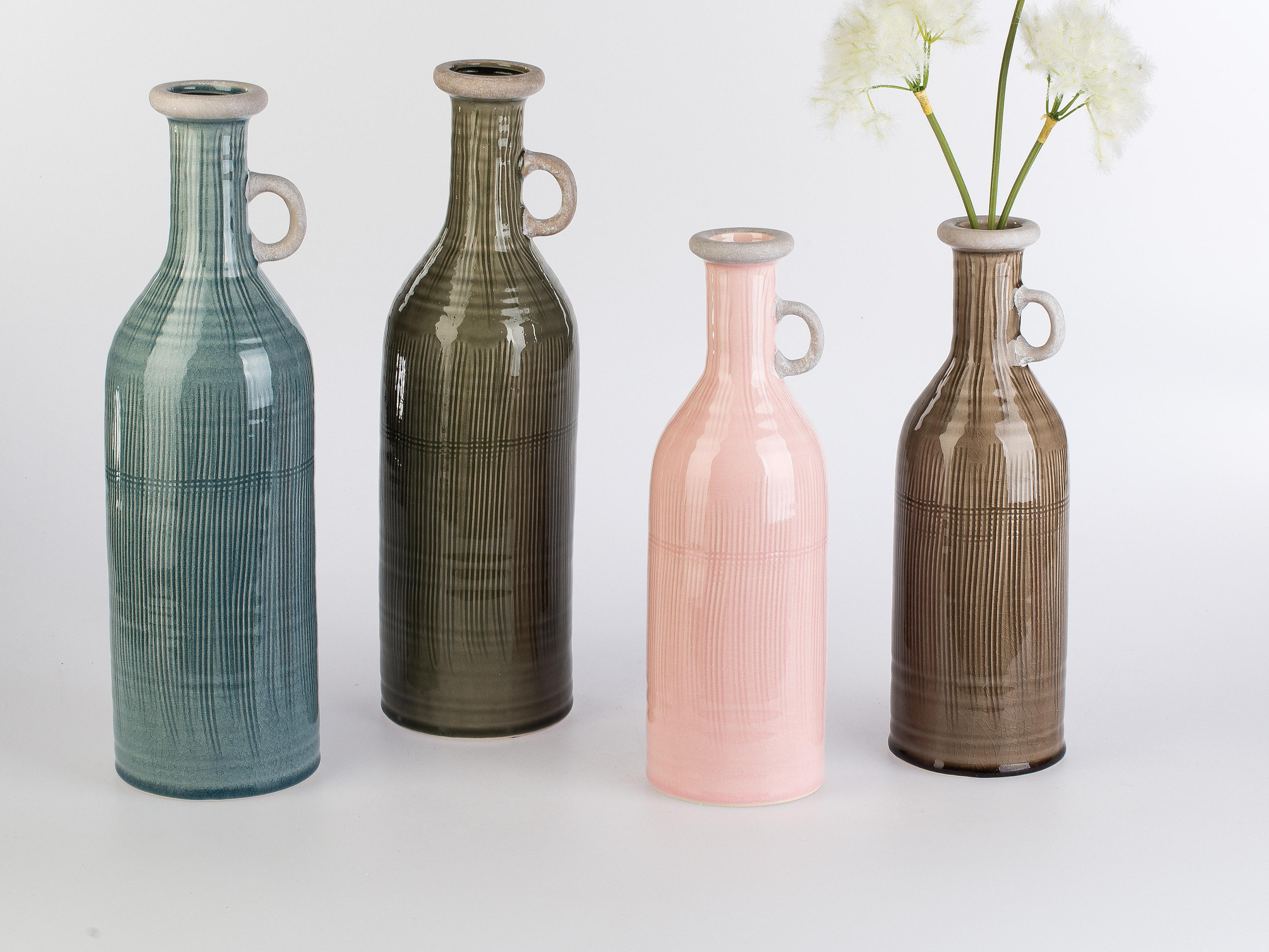 Landhaus-Flaschenvase mit Henkel