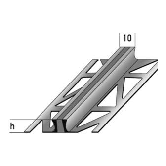 Dehnungsfugenprofil mit Silikoneinlage 250 cm