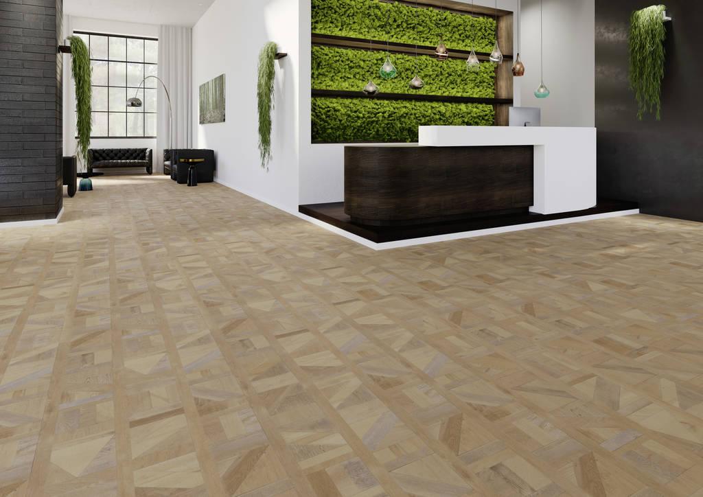 Designbelag 555 Klebevariante Brown Tetris Wood