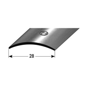 Übergangsprofil, Alu mittig gebohrt 28 x 1,5 mm